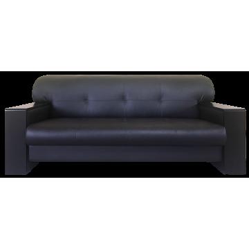 Боссо | прямой диван 3-х местный, офисный | Dolaro black 2 кат.